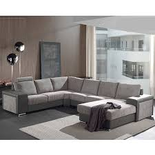 canapé panoramique tissu canapé panoramique gris en tissu sofamobili