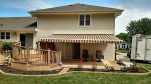 Patio Awnings Sunsetter Motorized Retractable Awnings In La By Galaxy Draperies
