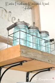diy reclaimed wood kitchen shelves h20bungalow