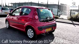 peugeot 107 1 4 hdi for sale 2007 peugeot 107 urban 1l laser red ej07csx at toomeys peugeot