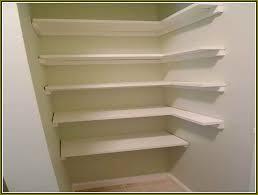 corner closet shelves diy home design ideas