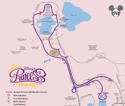 Running Map Route by I Made It Through The Magic Kingdom Running At Disney