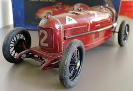 vintage alfa romeo race cars alfa romeo p2 a cij gorgeous tin toy car antique toy world magazine