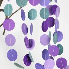 peacock baby shower 10pcs wedding garland mermaid party purple teal paper garland