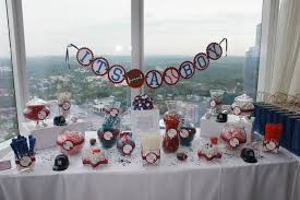 Baby Shower Candy Buffet Pictures by Red White And Blue Sports Baby Shower Candy Buffet Please Visit