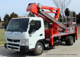 mitsubishi truck 2016 socage man lift installed on mitsubishi fuso bucket trucks