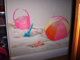 childrens painted wall murals cathie s murals childrens murals beach toys on the beach include