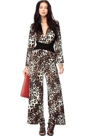 cheetah jumpsuit cheetah on the palazzo jumpsuit cicihot top shirt clothing