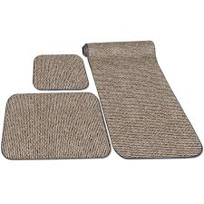 Rug Sets With Runner Decorian 3 Piece Rv Rug Set Peppercorn Prest O Fit 5 0263