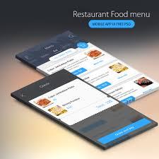 menu design resources restaurant food menu mobile app ui free psd download download psd