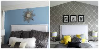 bedroom white upholstered headboards matched with gray bedding is