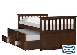 Captain Bed With Storage Mission Hills White Captain Bed With Storage Trundle