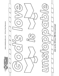 god u0027s love is unstoppable use activity sheet for an overall craft