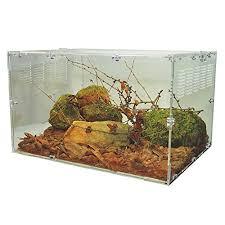 happy pet acrylic reptile terrarium habitat ideal for larvae