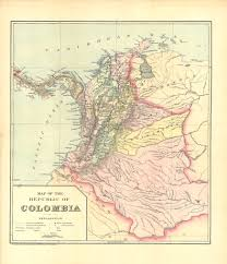 Map Of Colombia Map Of The Republic Of Colombia Colombian And Venezuelan