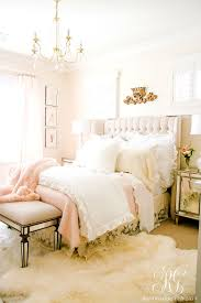 blush pink lace bedroom makeover easy tips to refresh your bedroom