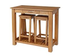 Oak Breakfast Bar Table Dewsbury Solid Oak Breakfast Bar Table 2 Bar Stools