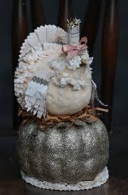 harvest turkey on pumpkin a lesa dailey design for bethany lowe