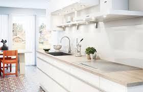 credences cuisine crédence effet verre blanc 300 x 64 cm cuisine