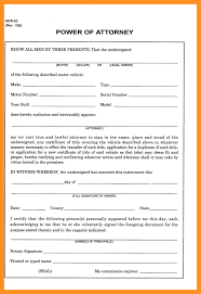 Limited Power Of Attorney Motor Vehicle by 8 Power Of Attorney North Carolina Form Scholarship Letter