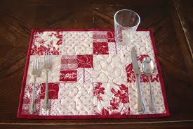 white quilted placemats set of 4 tablerunners and craft