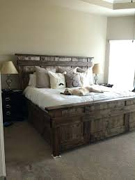 Bed Frame For King Size Bed Rustic Bed Frames King Size Frame Modern Beds With Regard To Wood