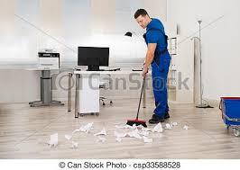 nettoyage bureau balai concierge nettoyage bureau plancher entiers photo de