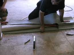 how to carpet to tile transition on a concrete floor