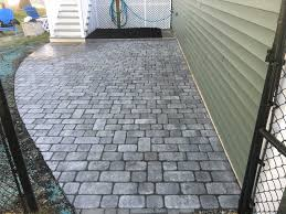 How To Clean Stone Patio by Patio With Blue Stone Landing Thibodeau Landscaping
