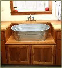 galvanized tub kitchen sink galvanized bucket sink galvanized bucket sink best home design