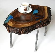 waterfall coffee table wood live edge waterfall coffee table glowing in the dark fine