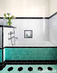 Wall Ideas For Bathroom Bathroom White Tile Wall White Bathtub Green Tile Flooring