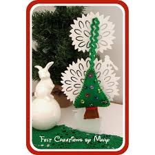 felt christmas tree decoration on handmade australia christmas
