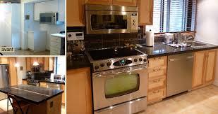 cuisine merisier renovation cuisine salle à manger salon