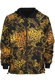versace jeans reversible gold tiger print jacket pure atlanta