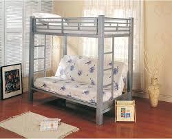 Metal Futon Bunk Beds Metal Bunk Bed Futon Silver Finish Futon Bunk Bed