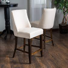 Counter Chairs Amazon Com Rydel Beige Linen Fabric Counter Stools Set Of 2
