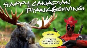 Thanksgiving For Canada Deadpool Celebrates Canadian Thanksgiving Comic Vine