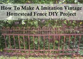 how to make a imitation vintage homestead fence diy project the
