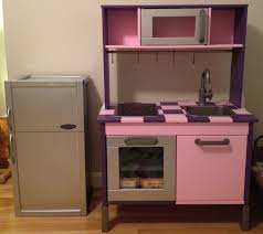 Purple Kitchen Decorating Ideas Amazing Small Kid Kitchen Decoration Using Purple Pink Ikea Duktig
