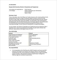 Resume Job Responsibilities by Senior Director Job Description Resume Job Descriptions