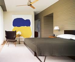 Neutral Bedroom Colorful Modern Art Interior Design By Thad - Modern art interior design