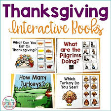 thanksgiving interactive books by mrs ps specialties tpt