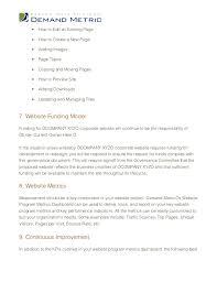 website governance document
