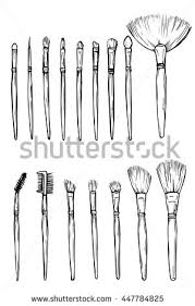 tools for makeup artists make artist work professional stock vector 447784825