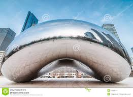 The Bean Chicago Map by The Cloud Gate A K A The Bean Chicago Editorial Stock Image