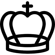 royal cross crown outline icons free