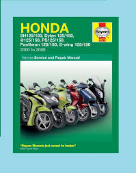 man4873 haynes workshop manual honda sh sh125 sh150 dylan 2001