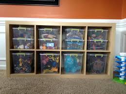 storage bins playroom organization book storage bins