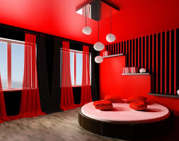 bedroom minimalist red color combination chrisfason inspiring
